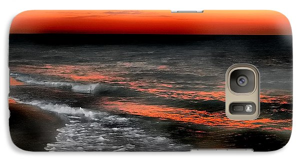 Galaxy Case featuring the photograph Gulf Coast Sunset by Clare VanderVeen