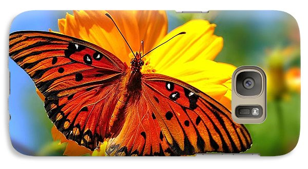 Galaxy Case featuring the photograph Gulf Fritillary by Ludwig Keck