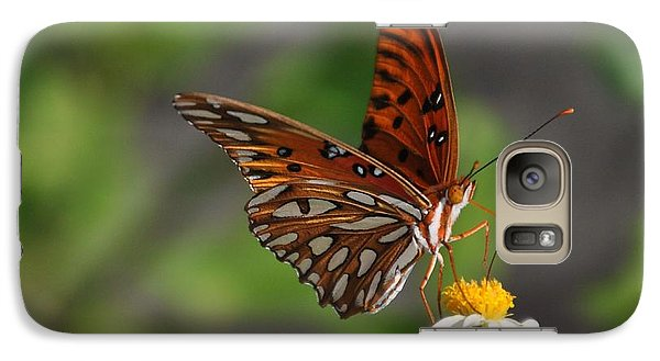 Galaxy Case featuring the photograph Gulf Fritillary by Michele Kaiser