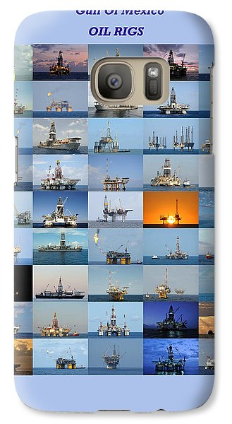 Gulf Of Mexico Oil Rigs Poster Galaxy S7 Case