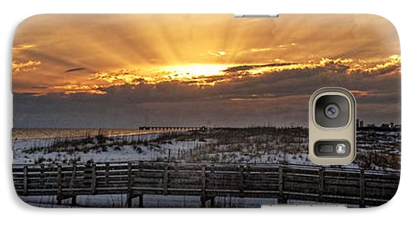 Galaxy Case featuring the digital art Gulf Shores From Pavilion by Michael Thomas