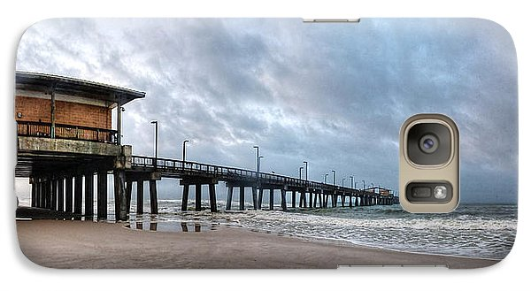 Galaxy Case featuring the digital art Gulf State Pier by Michael Thomas