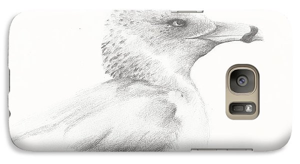 Galaxy Case featuring the drawing Gull Study by Meagan  Visser