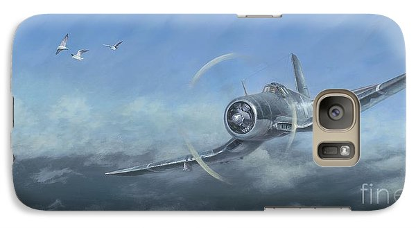 Galaxy Case featuring the painting Gull Wings by Stephen Roberson