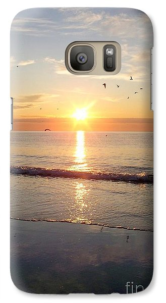 Galaxy Case featuring the photograph Gulls Dance In The Warmth Of The New Day by Eunice Miller