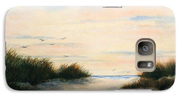 Galaxy Case featuring the painting Gulls Gathering by Vikki Bouffard