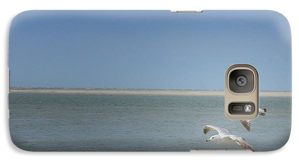 Galaxy Case featuring the photograph Gulls In Flight by Erika Weber