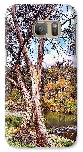Galaxy Case featuring the photograph Gum Tree By The River by Wallaroo Images