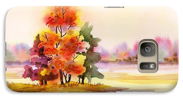 Galaxy Case featuring the painting Gunpowder State Park In The Fall by Yolanda Koh