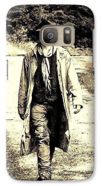 Galaxy Case featuring the photograph Gunslinger by B Wayne Mullins