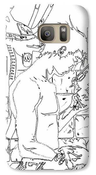 Galaxy Case featuring the digital art Gunslinger Born Iced Edition by Justin Moore