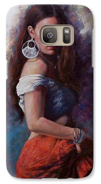 Galaxy Case featuring the painting Gypsy by Harvie Brown