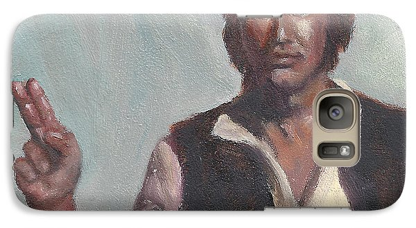 Galaxy Case featuring the painting H Is For Han Solo by Jessmyne Stephenson
