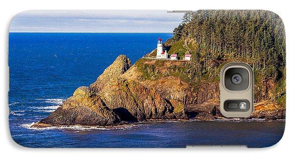 Galaxy Case featuring the photograph Haceta Head Lighthouse by Dennis Bucklin