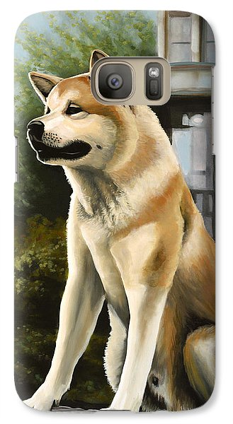 Realistic Galaxy S7 Case - Hachi Painting by Paul Meijering