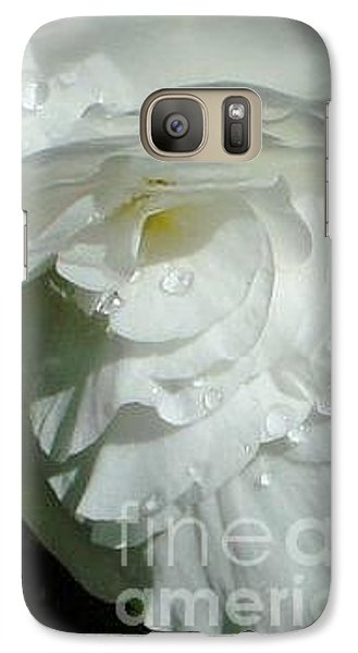 Galaxy Case featuring the photograph White Begonia  by Katy Mei
