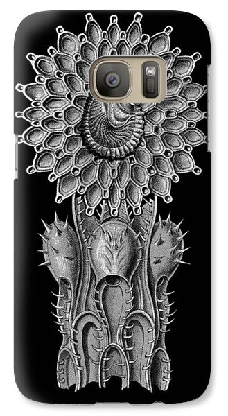 Galaxy Case featuring the digital art Haeckel Collage by Christophe Ennis