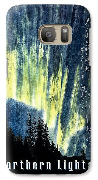 Galaxy Case featuring the photograph Haiga Poster Haiku Canada Conference  by Peter v Quenter