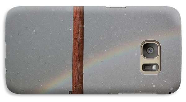 Galaxy Case featuring the photograph Hail And Rainbow by Ryan Crouse