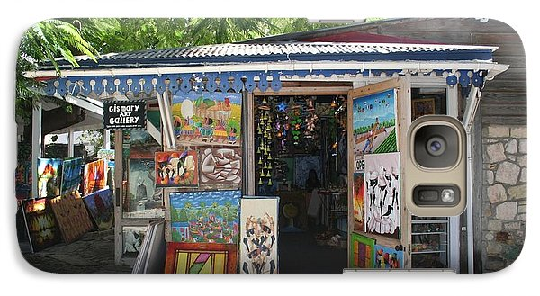 Galaxy Case featuring the photograph Haitian Art Shack by The Art of Alice Terrill