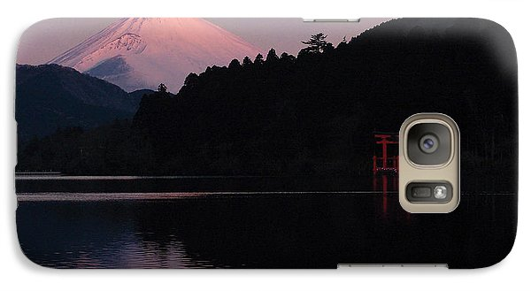 Galaxy Case featuring the photograph Hakone Waters Fuji  by John Swartz