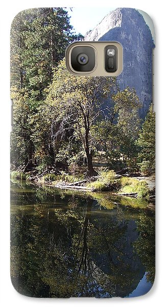 Galaxy Case featuring the photograph Half Dome Reflection by Richard Reeve