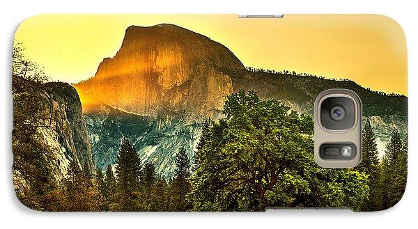 Half Dome Sunrise Galaxy Case by Az Jackson