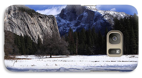 Galaxy Case featuring the photograph Half Dome Winter Snow by Duncan Selby