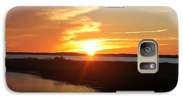 Galaxy Case featuring the photograph Half Sun Horizon by Robert Banach