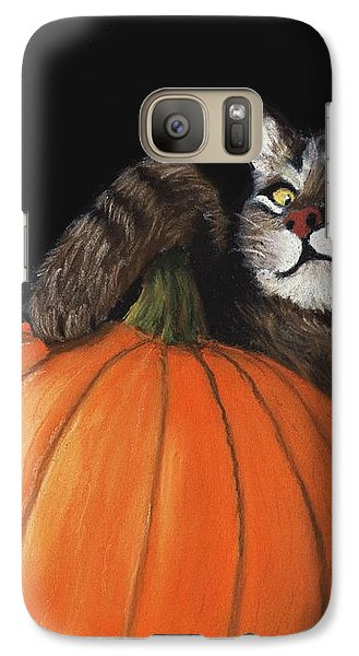 Halloween Cat Galaxy S7 Case by Anastasiya Malakhova