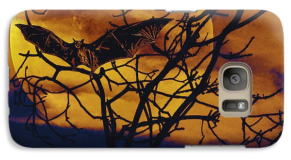 Galaxy Case featuring the painting Halloween Full Moon Terror by David Mckinney