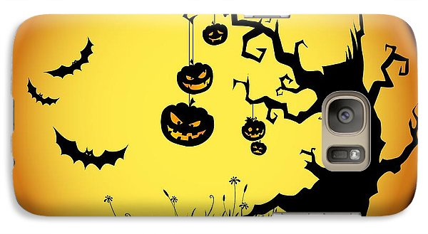 Halloween Haunted Tree Galaxy S7 Case by Gianfranco Weiss