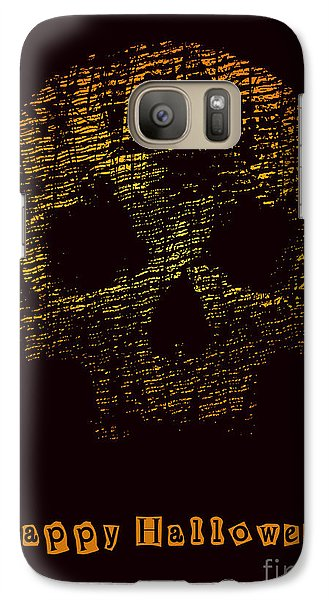 Magician Galaxy S7 Case - Halloween Poster With Skull. Vector by Jumpingsack