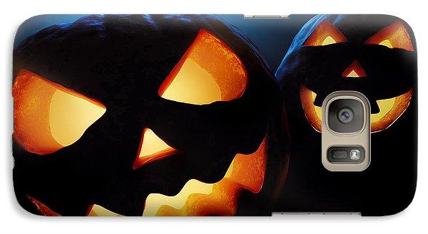 Pumpkin Galaxy S7 Case - Halloween Pumpkins Closeup -  Jack O'lantern by Johan Swanepoel