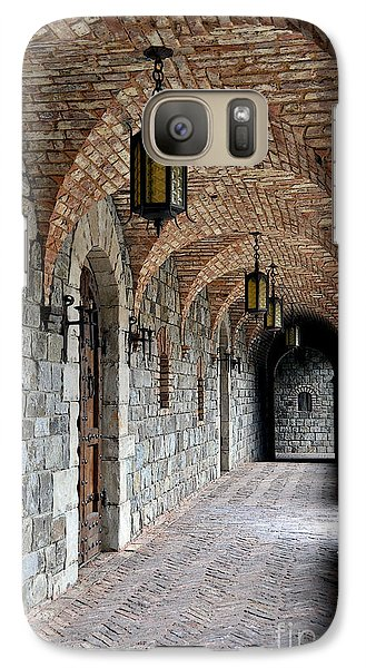 Galaxy Case featuring the photograph Halls Of Castello Di Amorosa by Gina Savage