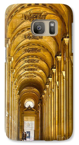 Galaxy Case featuring the photograph Hallway At The Louvre In Paris by Cynthia Lagoudakis