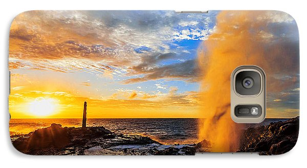 Galaxy Case featuring the photograph Halona Blowhole At Sunrise by Aloha Art