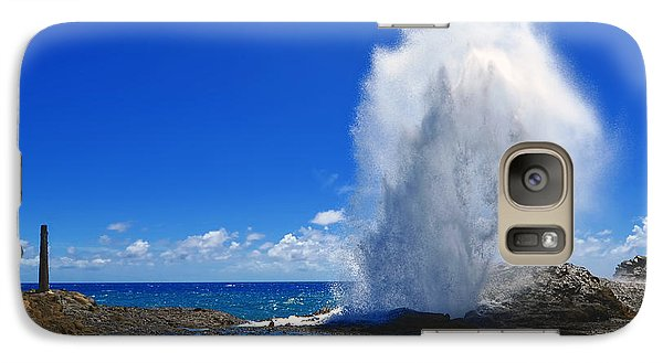 Galaxy Case featuring the photograph Halona Blowhole Exploding Geyser by Aloha Art