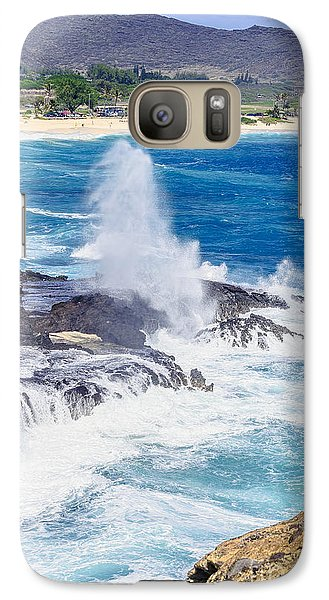 Galaxy Case featuring the photograph Halona Blowhole Huge Geyser by Aloha Art