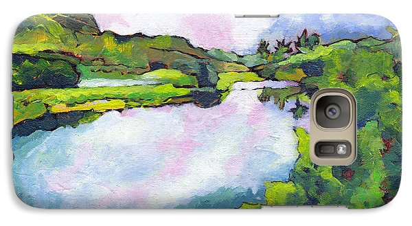 Galaxy Case featuring the painting Hamakua Swamp by Angela Treat Lyon