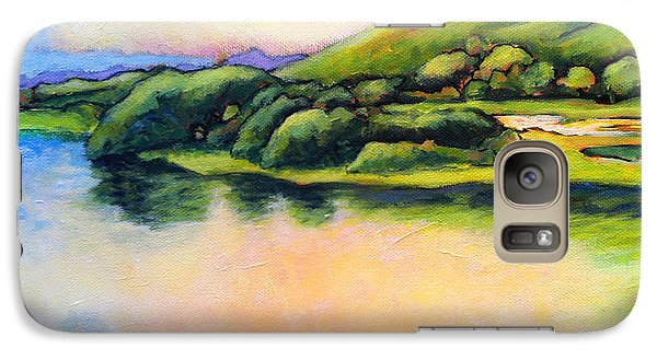 Galaxy Case featuring the painting Hamakua Swamp II by Angela Treat Lyon