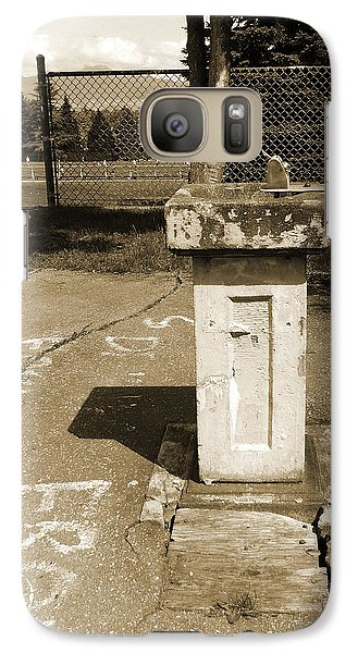 Galaxy Case featuring the photograph Lonely Drink Fountain by Laurie Tsemak