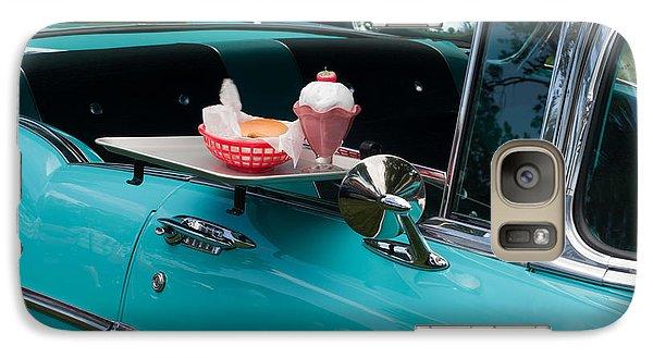 Galaxy Case featuring the photograph Hamburger Drive In Classic Car by Gunter Nezhoda