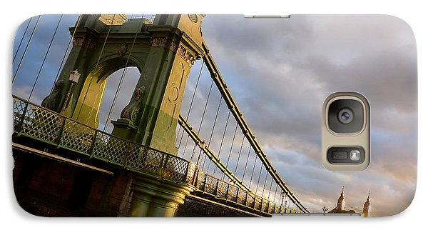Galaxy Case featuring the photograph Hammersmith Bridge In London by Peta Thames