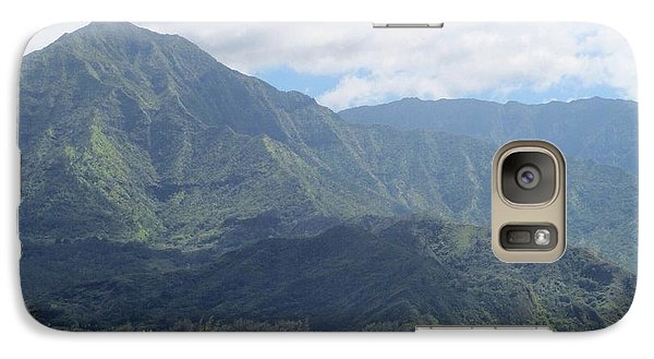 Galaxy Case featuring the photograph Hanalei Bay by Alohi Fujimoto