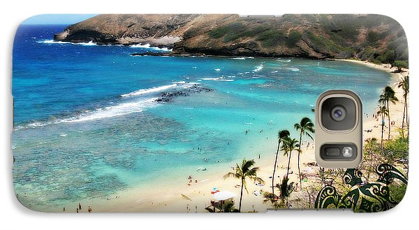 Galaxy Case featuring the photograph Hanauma Bay With Turtle by Mindy Bench