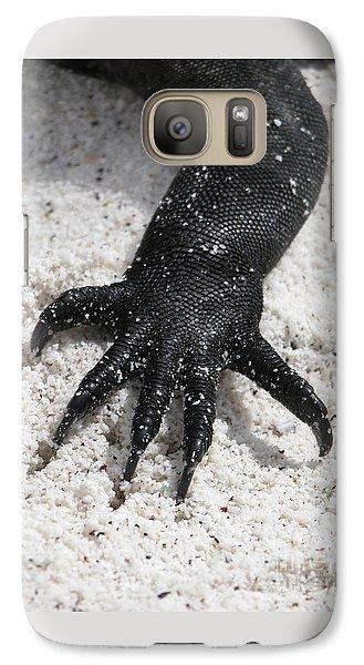 Galaxy Case featuring the photograph Hand Of A Marine Iguana by Liz Leyden