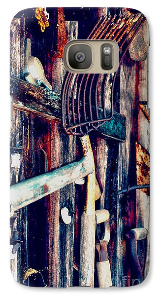 Galaxy Case featuring the photograph Handles And The Pitchfork by Lesa Fine