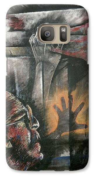 Galaxy Case featuring the mixed media Hands And Feet by Carrie Maurer