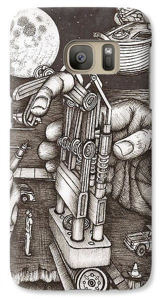 Galaxy Case featuring the painting Hands by Richie Montgomery